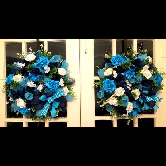 Blue Spring Wreath $85 Each